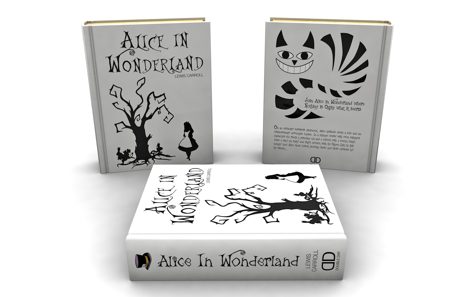 Alice In Wonderland Book Cover Ideas ~ Book cover the creative works of eric jussaume