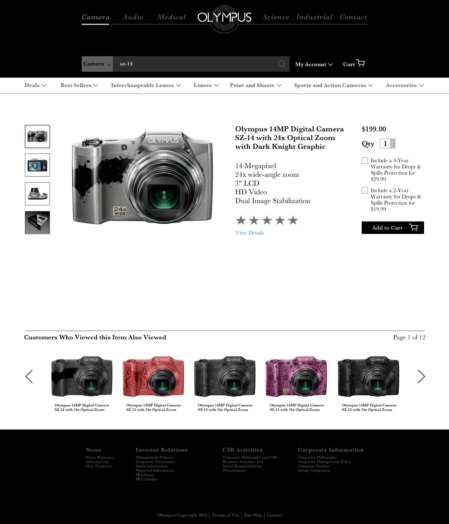 product page - Best Camera For Medical Photography