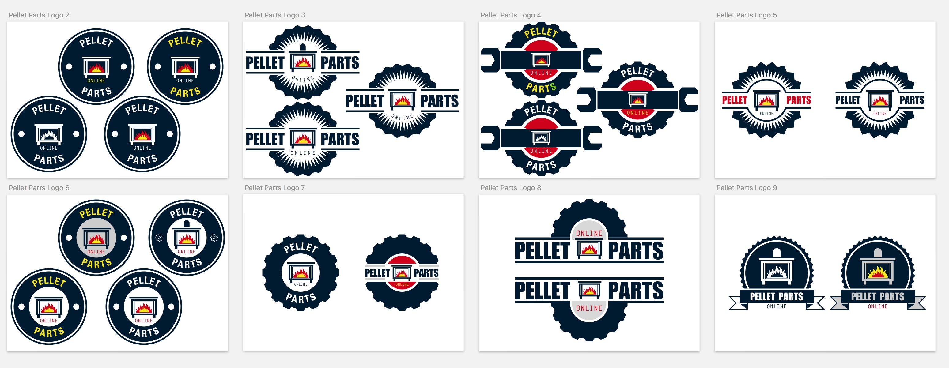 ejstudios, logo design, pellet parts logo