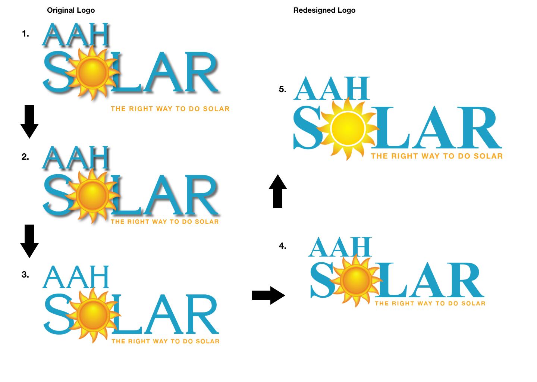 ejstudios, aah solar logo, logo, logo redesign