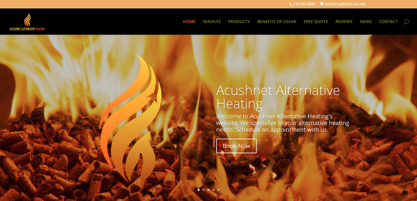 acushnet heating home page
